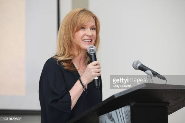 Hilary Valentine speaks at Room To Read 2018 International Day Of The Girl Benefit at One Kearny Club on October 11 2018 in San Francisco California