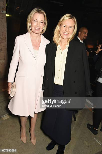 Hilary Weston and Alannah Weston attend the Erdem show during London Fashion Week Spring/Summer collections 2017 on September 19 2016 in London...