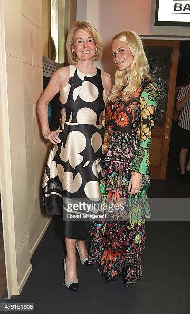 Hilary Weston and Poppy Delevingne attend the Tiffany Co immersive exhibition 'Fifth 57th' at The Old Selfridges Hotel on July 1 2015 in London...