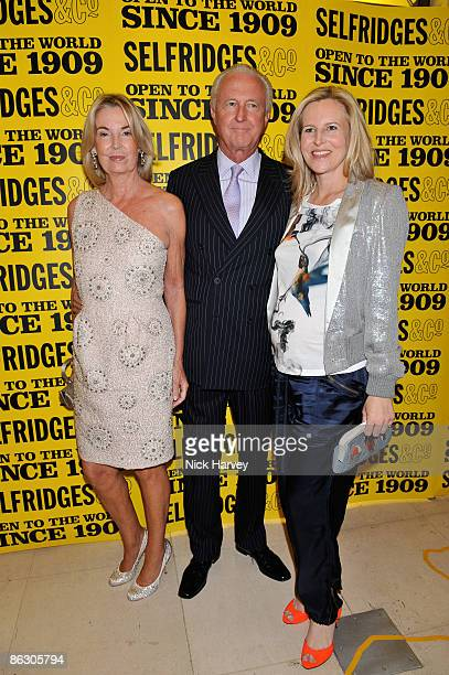 Hilary Weston Galen Weston and Alannah Weston attend Selfridges' 100th birthday party at Selfridges on April 30 2009 in London England