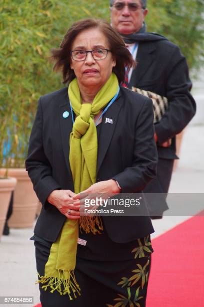 Hilda Heine president of Marshall Islands arriving to the United Nations Framework Convention on Climate Change UNFCCC COP23