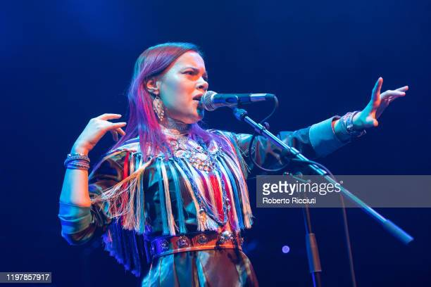 Hilda Lansman of Vildá performs at Tramway Glasgow during Celtic Connections 2020 on January 31 2020 in Glasgow Scotland