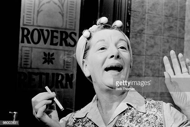 Hilda Ogden played by Jean Alexander the cleaning lady at the Rovers Return in the television programme Coronation Street produced by Granada...