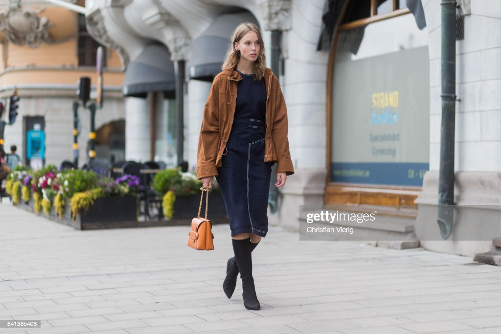 Street Style - Day 2 - Stockholm Fashion week Spring/ Summer 2018 : News Photo