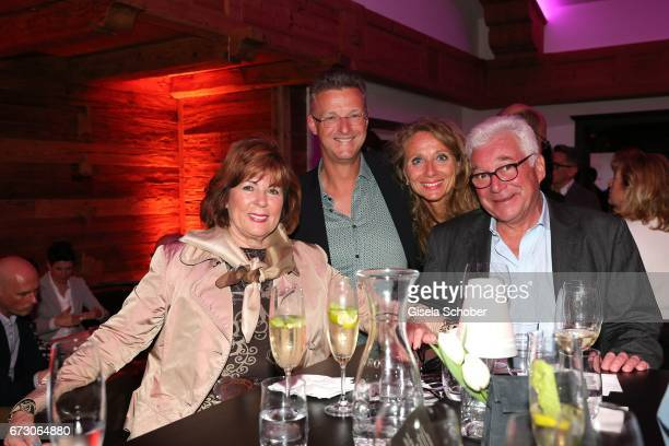 Hilde Sempert Matthias Landmesser and his wife Claudia Landmesser and butcher Magnus Bauch during the piano night hosted by Wempe and Glashuette...