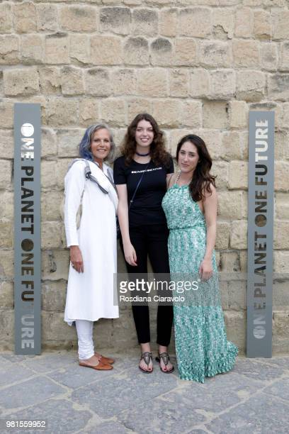 Hilde Sole Anne de Carbuccia and Alexa Lloyd attend One Planet One Future Cocktail Party on June 22 2018 in Naples Italy