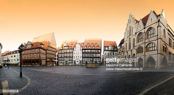 Hildesheim city center panorama