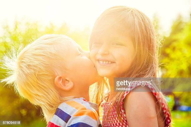 Сhildren kissing