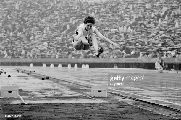 Hildrun Laufer-Claus of the United Team of Germany competes in the Women's Long Jump competition on 14th October 1964 during the XVIII Summer Olympic...