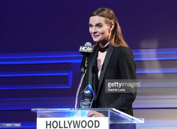 "Hildur Gudnadottir wins Best Score for ""Joker"" the 3rd Annual Hollywood Critics Awards at Taglyan Complex on January 09, 2020 in Los Angeles,..."