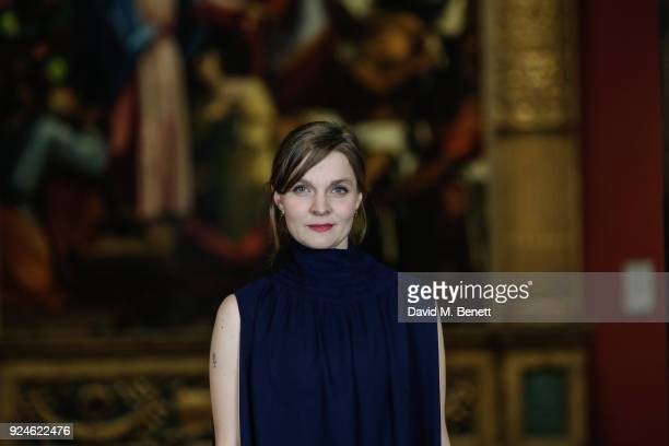 Hildur Guonadittir attends a special screening of Mary Magdalene at The National Gallery on February 26 2018 in London England