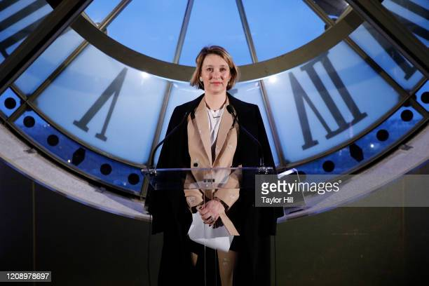 Hildy Kuryk attends the press preview of About Time Fashion and Duration the 2020 Metropolitan Museum of Art Costume Institute exhibition at Musee...