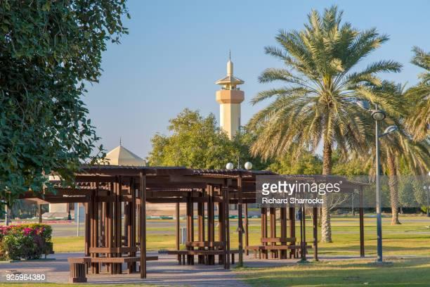 hili park and hili mosque, al ain, united arab emirates - アブダビ アルアイン市 ストックフォトと画像