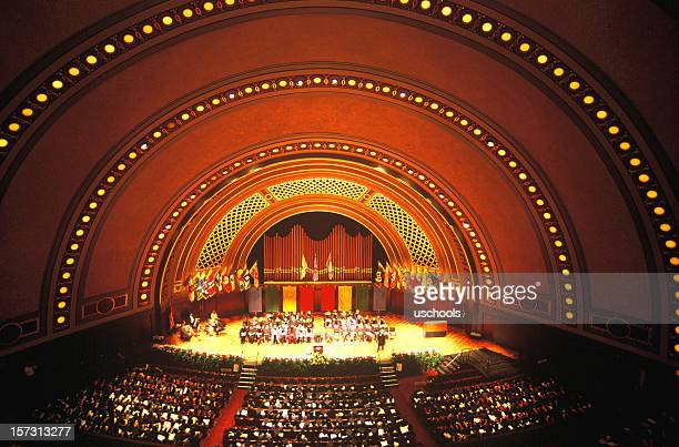hill auditorium /concert hall, university of michigan - concert hall stock pictures, royalty-free photos & images