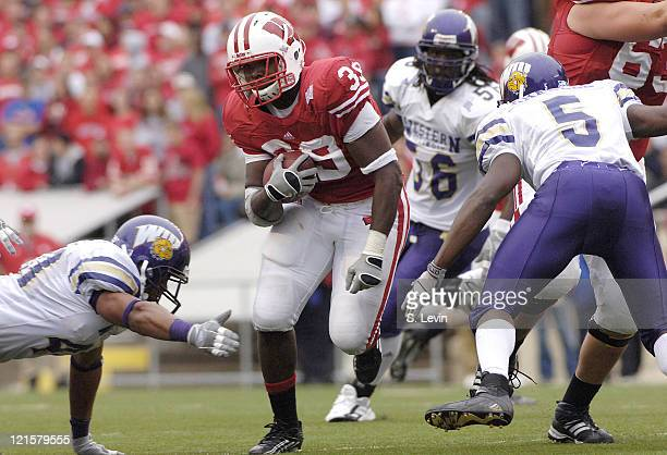 Hill during the game between the Wisconsin Badgers and the Western Illinois Leathernecks at Camp Randall Stadium in Madison, Wisconsin on Saturday,...