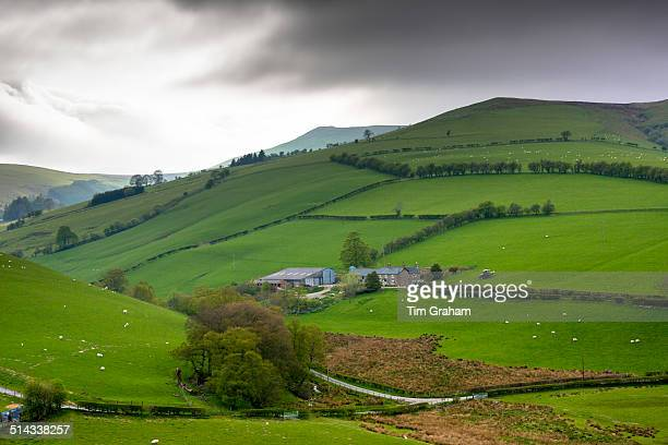 hill farm in brecon beacons, wales, uk - welsh culture stock pictures, royalty-free photos & images
