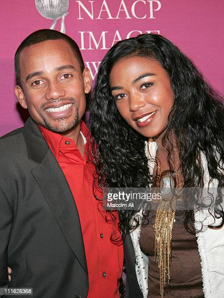 Hill Harper and Ananda Lewis during The 36th Annual NAACP Image Awards Nominations at Universal City Hilton Hotel in Los Angeles California United...
