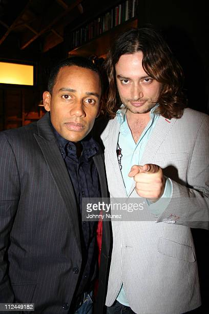 Hill Harper and Constantine Maroulis during Hill Harper Letter's to a Young Brother Educational Tour Launch Hosted by Abercrombie and Fitch at TBD in...
