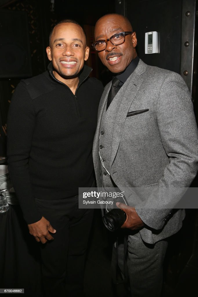 Hill Harper and Courtney B. Vance attend 'The Immortal Life Of Henrietta Lacks' New York Premiere - After Party at TAO Downtown on April 18, 2017 in New York City.