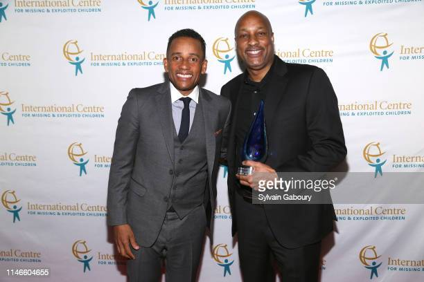 Hill Harper and Dave Levy attend ICMEC Gala for Child Protection at Gotham Hall on May 02, 2019 in New York City.