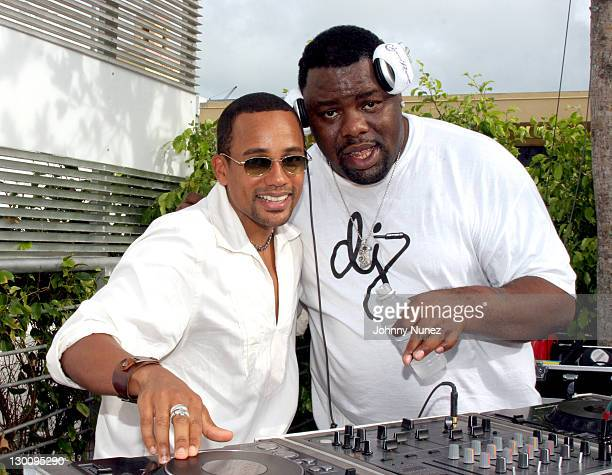 Hill Harper and DJ Biz Markie during 2005 MTV VMA John Singelton Party Hosted by DJ Biz Markie and Snoop Dogg at Sanctuary Hotel in Miami Florida...