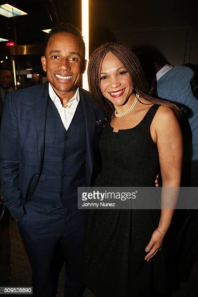 Hill Harper and Melissa HarrisPerry attend the 2016 ImageNation Revolution Awards at SVA Theater on February 10 in New York City