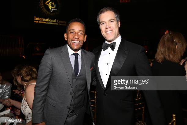Hill Harper and Peter Alexander attend ICMEC Gala for Child Protection at Gotham Hall on May 02, 2019 in New York City.