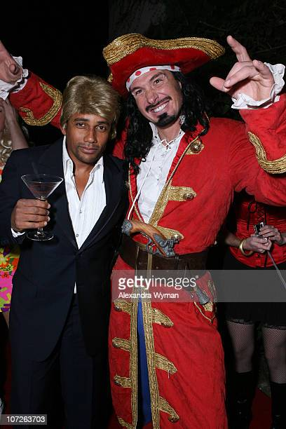 Hill Harper and The Captain at Heidi Klum's Halloween Party held at The Green Door on October 31 2007 in Hollywood California