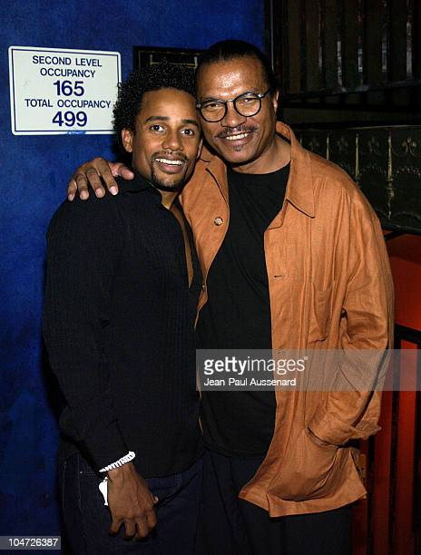 Hill Harper Billy Dee Williams during VH1's Pilot The Hill Harper Show Screening Party at BB Kings Blues Club in Universal City California United...