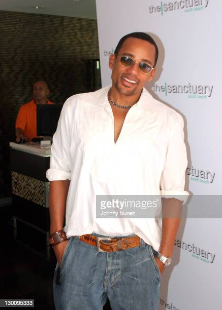 Hill Harper during 2005 MTV VMA John Singelton Party Hosted by DJ Biz Markie and Snoop Dogg at Sanctuary Hotel in Miami Florida United States