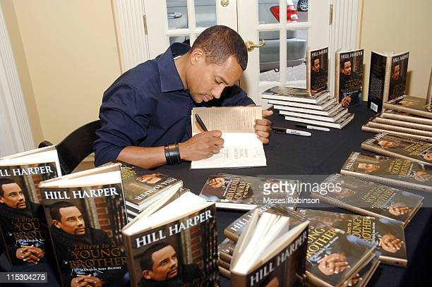 """Hill Harper during Hill Harper Signs His Book """"Letters to a Young Brother"""" in Atlanta at Home Location in Atlanta, Georgia, United States."""