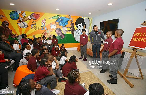 Hill Harper leads a discussion about empowerment financial literacy at The Fishing School on March 15 2010 in Washington DC