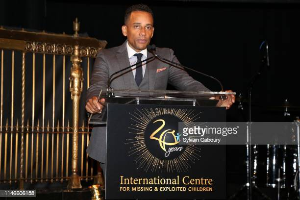 Hill Harper speaks onstage at the ICMEC Gala for Child Protection at Gotham Hall on May 02, 2019 in New York City.