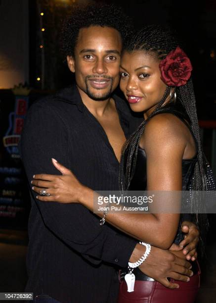 Hill Harper Taraji Henson during VH1's Pilot 'The Hill Harper Show' Screening Party at BB Kings Blues Club in Universal City California United States