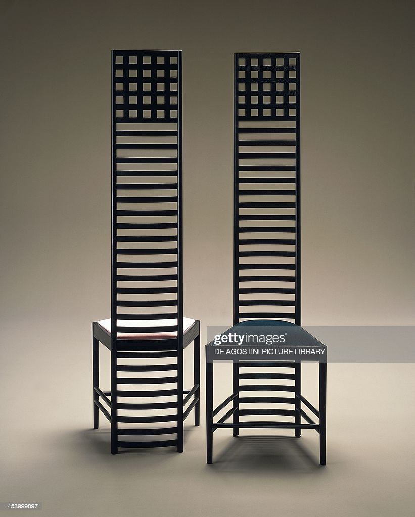 Hill House Chairs 1903 1905 By Charles Rennie Mackintosh