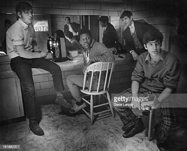 MAR 9 1970 MAR 25 1970 Hill Junior High Class Looks At Movie Produced By Students Themselves From left are Brian Sullivant Reggie Garner Doug Nunes...