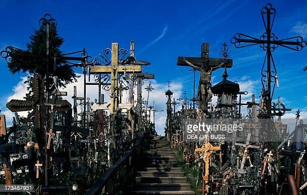 Hill of Crosses near Siauliai Samogitian Lithuania