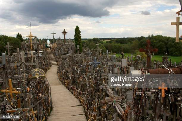 Hill of Crosses Pilgrimage site, Siauriai, Lithuania, Baltic States