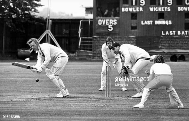 Hill of Marske batting against Stockton at Stockton, 2nd June 1978.