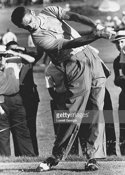 SEP 10 1961 SEP 16 1961 SEP 19 1961 Hill Recoils on Booming Tee Shot Dave Hill the Denver Open pacesetter puts all of his 511 140pound frame into...