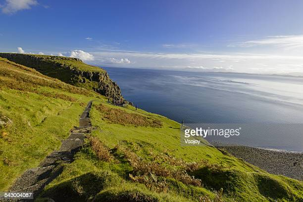 hill top and bearreraig bay, skye - vsojoy stock pictures, royalty-free photos & images