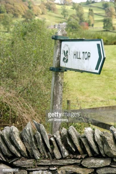A Hill Top sign at Beatrix Potter home