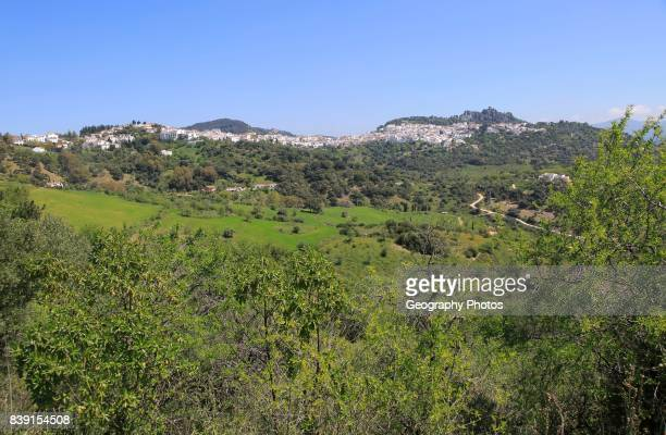 Hill top village of Cascares Malaga province southern Spain