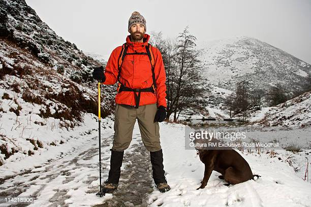 Hill walker with dog