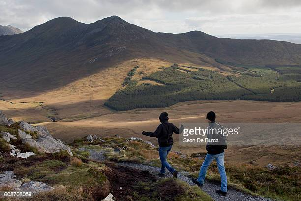 Hill walkers Connemara National Park