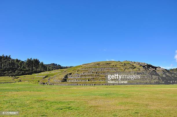 """hill with terraces of sacsayhuaman, cusco, peru - """"markus daniel"""" stock pictures, royalty-free photos & images"""