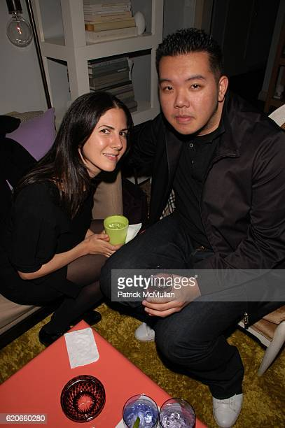 Hilla Narov and Jim Shi attend CARLOS MOTA celebrates the New Year and toasts Carlos Souza upon his departure from Valentino at Private Residence NYC...