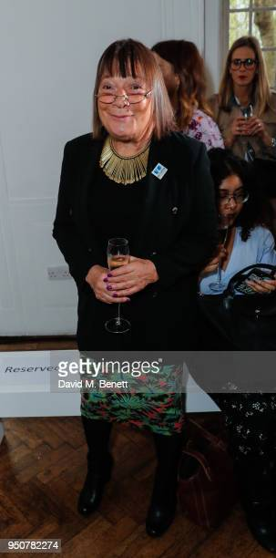 Hillary Alexander attends Michelle Keegan's first catwalk show for Verycouk at One Marylebone on April 24 2018 in London England