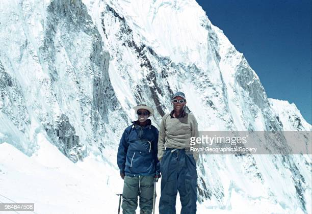 Hillary and Tenzing after successfully climbing Mount Everest Nepal May 1953 Mount Everest Expedition 1953