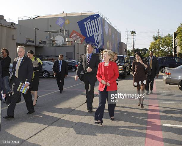 LENO Hillary Clinton Air Date Episode 3528 Pictured Senator Hillary Clinton departing after her Tonight Show appearance on April 3 2008 Photo by...